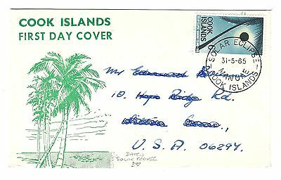 mjstampshobby 1965 - Cook Islands Solar Eclipse Cover (Lot535)