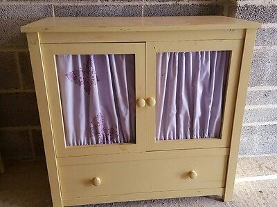 solid wood cupboard chest of drawers sideboard shelves upcycle no reserve 1p