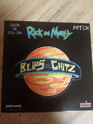 Rick And Morty Blips And Chitz Patch Adult Swim Funny Cartoon
