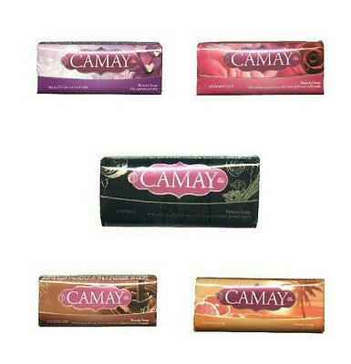 5x CAMAY Gemis Seife 90g Bar Soap Fragrant Aromatische Seife Vintage Dynamique