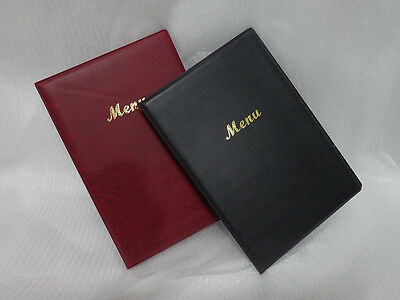 MENU COVER HOLDER BURGUNDY OR BLACK PVC A4 Restaurant Cafe RE218