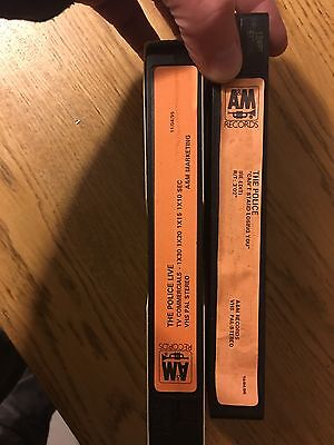 The Police Rare A&M Set Two Promo Video Tapes Live Can't Stand Losing You Uk