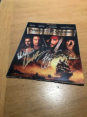 Pirates of the Caribbean CAST Signed 22 x 28cm Depp Bloom Knightley & Rush