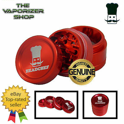 Red Head Chef Top Quality Alloy Alluminium Magnetic Herbal Grinder 30mm 4 Piece