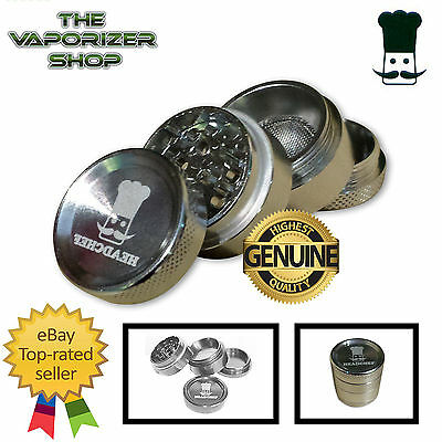 Silver Head Chef Top Quality Alloy Alluminium Magnetic Herbal Grinder 30mm 4 Pcs