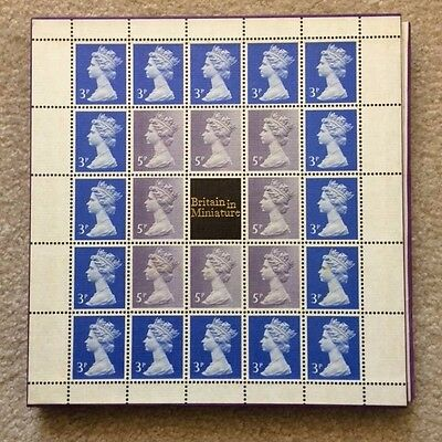"Limited Edition (#63) 1972 ""Britain In Miniature"" Stamp Collection Album"