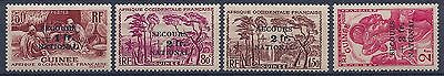 Guinee - 172/175 Secours National Serie Complete N** Mnh Luxe