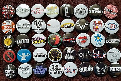 Indie Rock 90's Button Badges (Collection 4).  25mm in Size. :0)