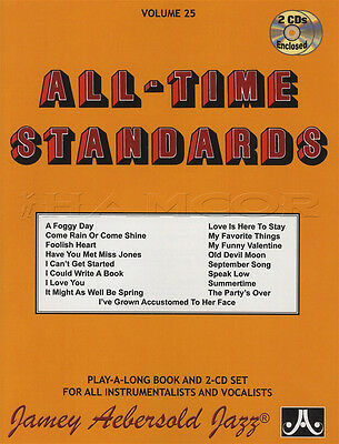 All-Time Standards for All Instruments Sheet Music Book with CDs Jazz Play Along