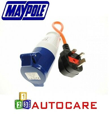 Maypole 230V Mains Hook Up Adapter Conversion Plug For Caravan Motorhomes