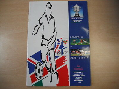 Derby County v Cremonese Anglo Italian Cup