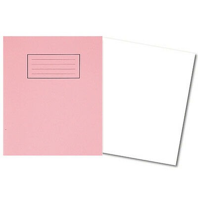 Pack of 4 Silvine A5 Exercise Books School Art Notebook -Pink Cover Plain Pages