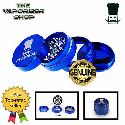 Blue Head Chef Top Quality Alloy Alluminium Magnetic Herbal Grinder 40mm 4 Pcs