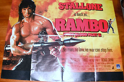 RAMBO FIRST-BLOOD. PART II  1982  Displayed at Images Cinema Sheerness.
