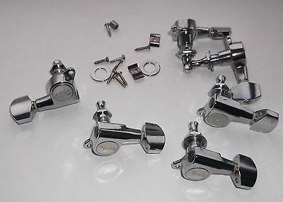 Fender Schaller Style Tuners & Bushes To Suit Right Handed 6 Inline Guitars