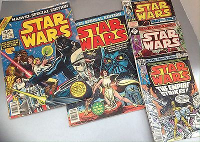 Lot Of Vintage 1977 Marvel Special Edition Star Wars Comic Book (Issues 1 & 2)