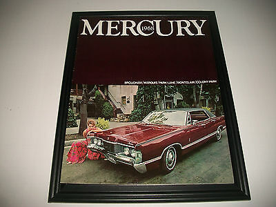 1968 Mercury Sales Brochure  Brougham Marquis Parklane Montclair Colony Park