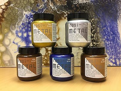 resi-METAL 100g Metallic Pigment, to create Resin Art simply add to clear resin