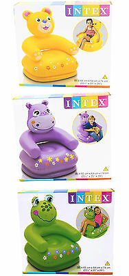 Intex Happy Animals Frog / Bear / Hippo Childs Inflatable Chair