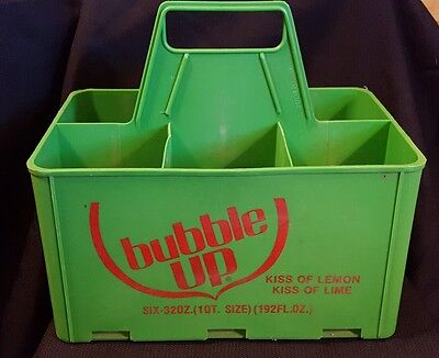 Vintage Bubble Up Soda Carrier plastic case for 6 pack