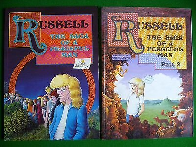Russell The Saga of a Peaceful Man Part 1 & 2 Comic Book Graphic Novel P Loveday