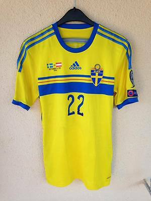 SWEDEN MATCH WORN JERSEY SHIRT TRIKOT UEFA Euro 2016 qualifying