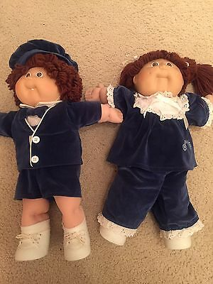 VINTAGE 1985 CABBAGE PATCH KIDS Twins Limited Edition Girl & Boy
