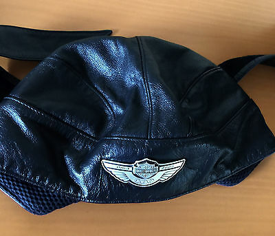 Harley Davidson  100 Years Jubilee leather cap with metal logo, Size XL