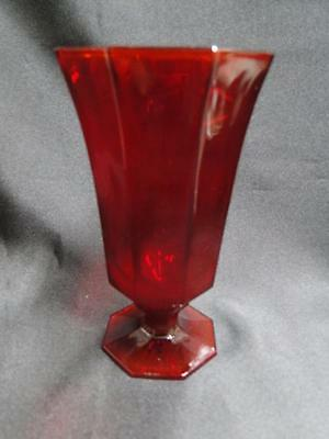 "Independence Octagonal Ruby: Iced Tea 6 - 6 1/8"", 8 oz."