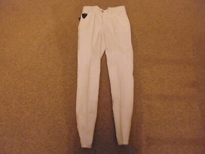 Equiline Ladies Yearling Amy Breeches white size I 38 UK 4/6 show competition