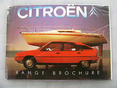 OLD 1980s CITROEN RANGE CAR BROCHURE SALES LITERATURE 2CV6 LNA GSA CX BX VISA
