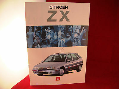 1994 Citroen Zx 1.4 - 2 Litre ,uk Market Original Car Brochure / Catalogue Club