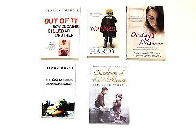 Joblot 5 x Books Good Condition ~ Biographies and True Stories