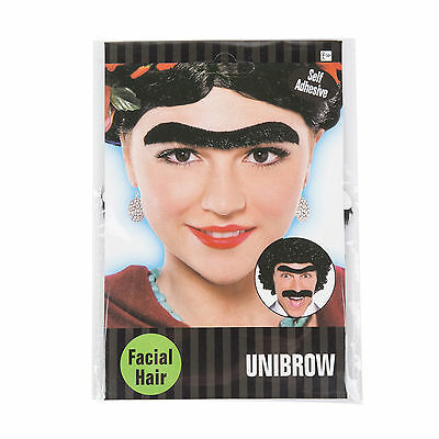 Black Self-Adhesive Stick-on Fancy Dress Unibrow / Monobrow (WORLD BOOK DAY)