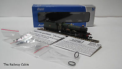 Dapol 2S-010-002 N Gauge Hall Steam Loco 4914 CRANMORE HALL BR Lined Green L/C