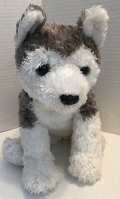 Ty Plush Husky Malamute Dog Grey Tyhair 2001 Plushies Classic