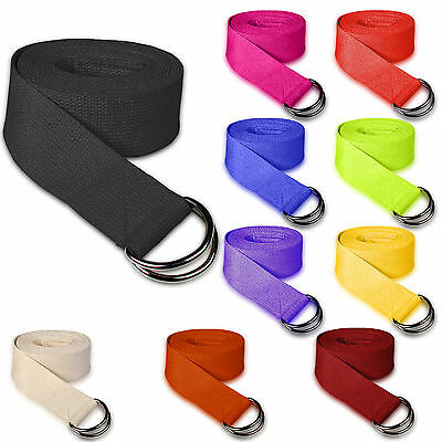 Yoga Stretching Sangle D-Ring Ceinture 180 cm Jambe Taille Exercice De Fitness