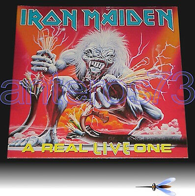 """Iron Maiden """"a Real Live One"""" Rare Lp Gatefold '93 Made In Italy - Mint"""