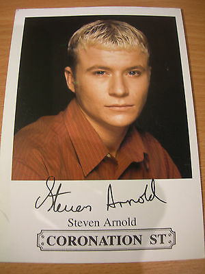 Collectable Steven Arnold Coronation St Actor Printed Signed Rare TV Cast Card