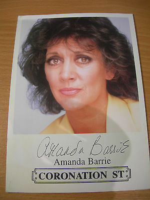 Collectable Amanda Barrie Coronation St Actress Printed Signed Rare TV Cast Card