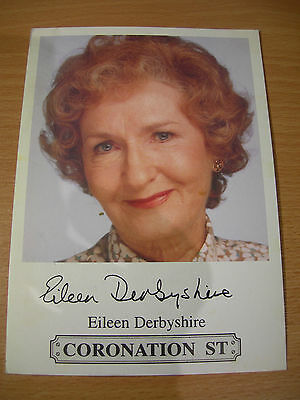 Collectable Eileen Derbyshire Coronation Street Printed Signed Rare TV Cast Card