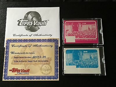 1976 Topps Vault King Kong Color Separation Proof Set 1/1 COA Thousands Scream