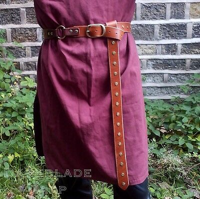 Leather Long Belt Larp Medieval Cosplay Pagan Costume Viking Game of Thrones