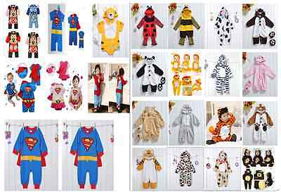 Baby/bebé Fiesta De Disfraces Superman Animal disfraces Body Talla 0-24 meses