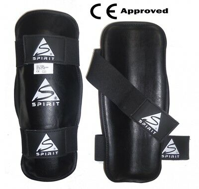 Spirit PU Shin Guards for Karate Kickboxing and Martial Arts