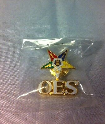 Order of the Eastern Star OES Symbol Lapel Pin-New!