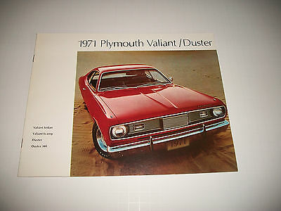 1971 Plymouth Duster/duster 340/valiant/ Scamp Sales Brochure Canadian Clean
