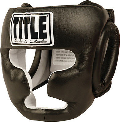 Title Boxing Full Face Training Headgear - Regular - Black