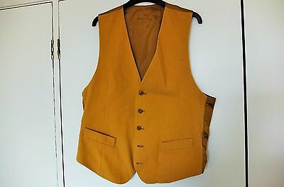 Vintage gentleman's waistcoat. Mustard/gold colour size Large. M&S