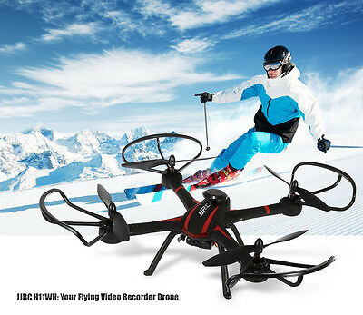 JJRC H11WH Quadcopter Altitude Hold WiFi FPV HD Camera 2.4GHz Control Black